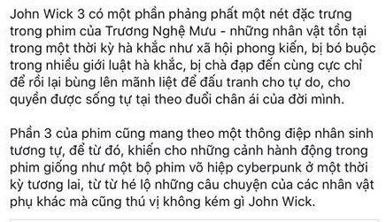 Khán giả chia phe tranh cãi về John Wick 3: Người khen đỉnh của đỉnh, kẻ chê vô lý bỏ xừ! - Ảnh 5.