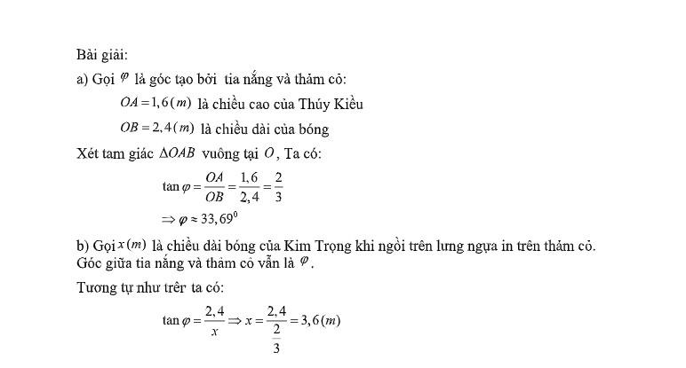 Truyện Kiều vào đề toán, học sinh phải tính bóng của Kim Trọng in trên mặt đất - Ảnh 2.