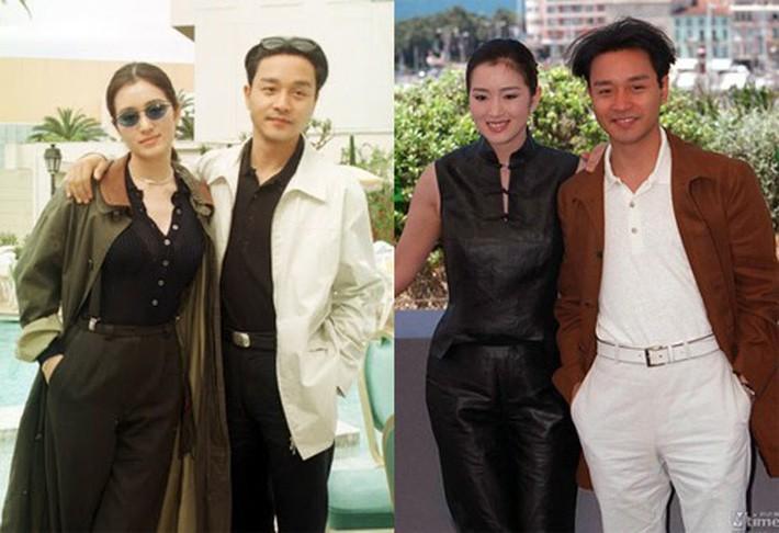 Năm 1996, cô sánh vai Trương Quốc Vinh tại LHP Cannes, người đẹp lựa chọn trang phục với màu sắc đơn giản.