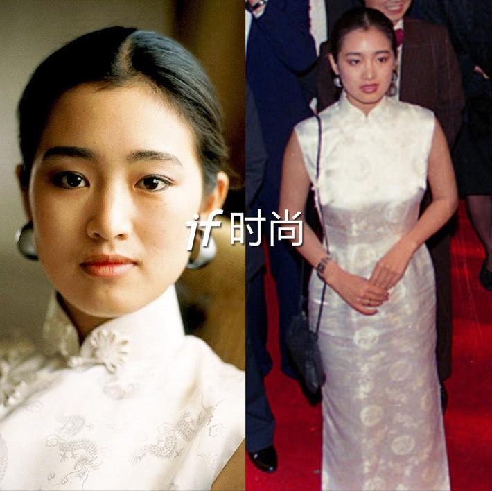 Lần đầu tiên sải bước tại thảm đỏ LHP Cannes là năm 1988, khi ấy Củng Lợi còn là một nữ diễn viên trẻ xinh đẹp tài năng vừa chập chững bước vào nghề. Cùng với vẻ ngoài ngây thờ trong sáng của ngày ấy, Củng Lợi chọn cho mình một thiết kế sườn xám trắng tinh khôi điểm xuyết hoa văn thêu nhẹ nhàng. Nhan sắc đậm nét Á Đông với hình ảnh thiếu nữ e ấp trong bộ sườn xám là một trong những hình ảnh khó quên nhất của Củng Lợi trong 31 năm sải bước tại LHP Cannes.