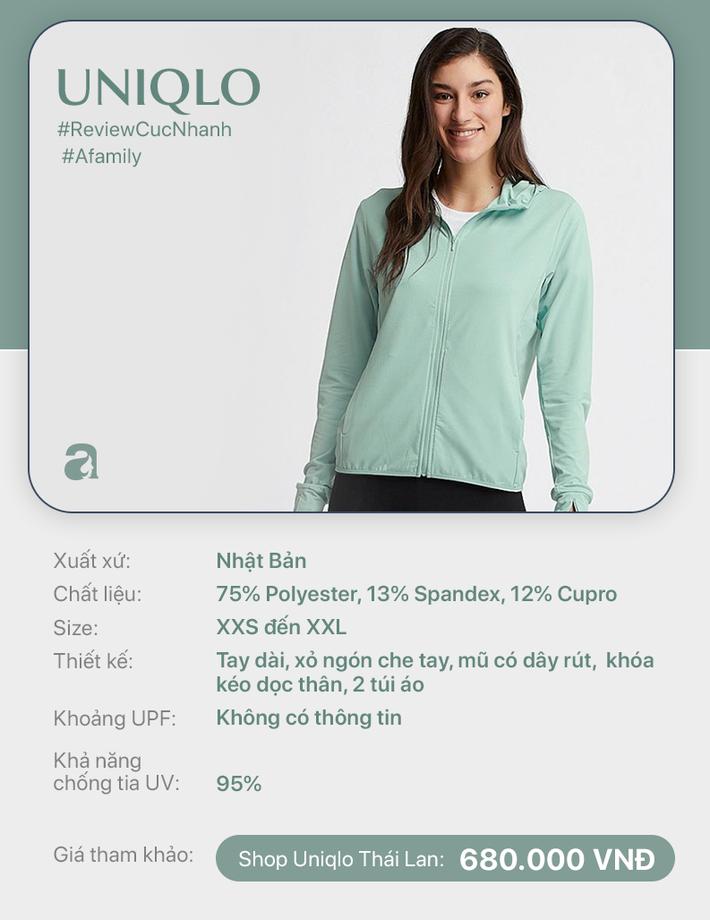 Review nhanh 10 mẫu áo chống nắng: Giá từ 350 đến cả triệu thì đều có khả năng ngăn tia UV ngang ngửa nhau - Ảnh 6.
