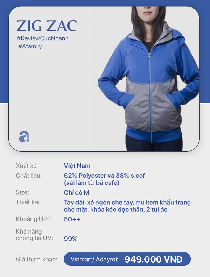 Review nhanh 10 mẫu áo chống nắng: Giá từ 350 đến cả triệu thì đều có khả năng ngăn tia UV ngang ngửa nhau - Ảnh 7.