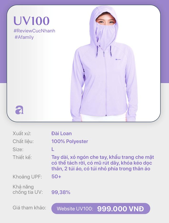 Review nhanh 10 mẫu áo chống nắng: Giá từ 350 đến cả triệu thì đều có khả năng ngăn tia UV ngang ngửa nhau - Ảnh 8.