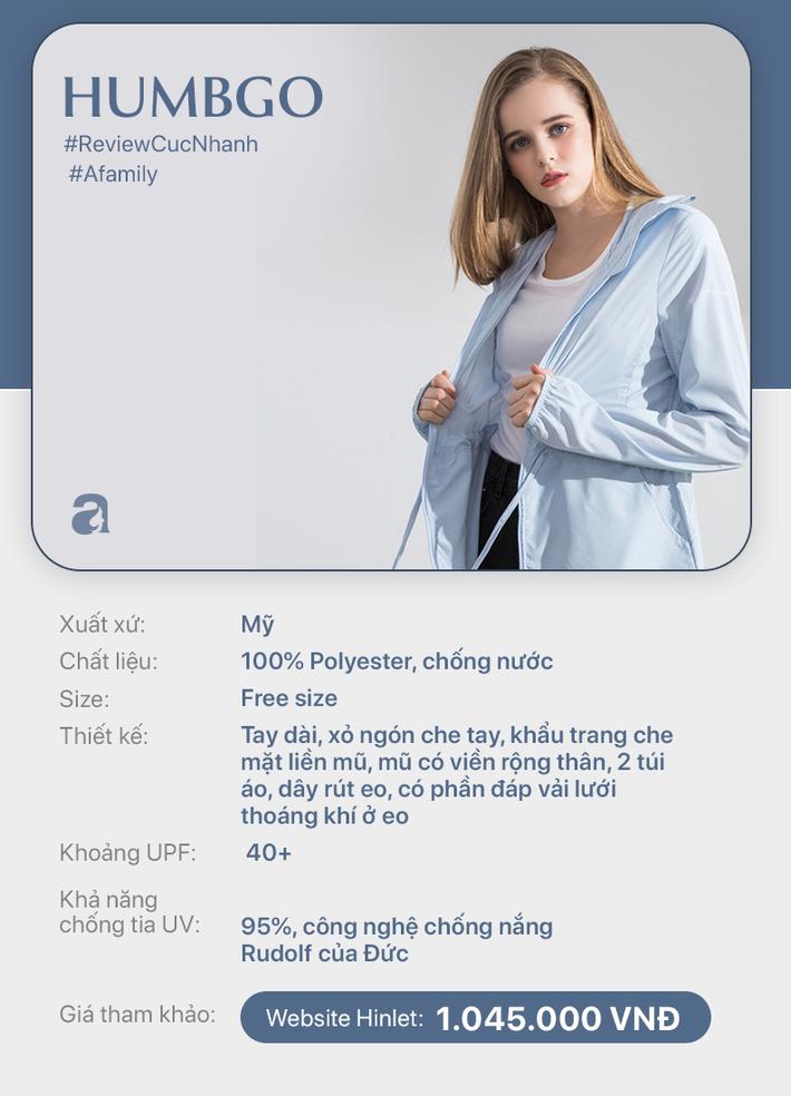 Review nhanh 10 mẫu áo chống nắng: Giá từ 350 đến cả triệu thì đều có khả năng ngăn tia UV ngang ngửa nhau - Ảnh 9.