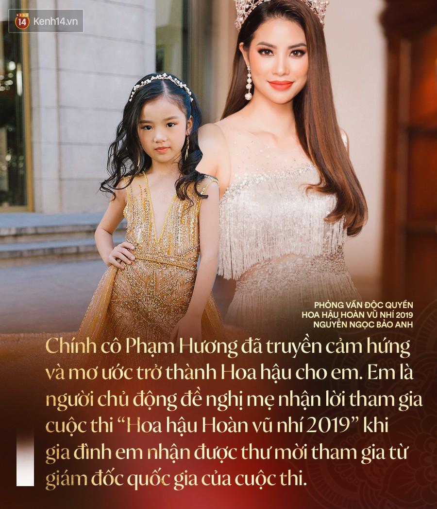"""""""Hoa hậu Hoàn vũ nhí 2019"""" Bảo Anh sau đăng quang: Cô Phạm Hương đã truyền cảm hứng để đi thi từ năm 3 tuổi - Ảnh 2."""