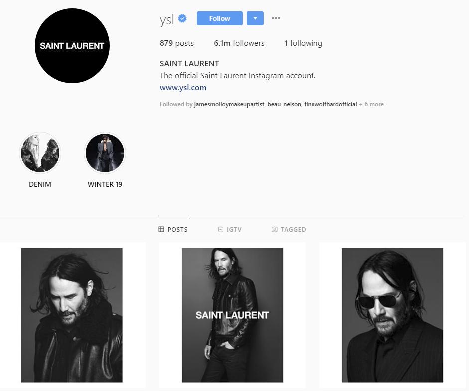 Không còn là Keanu chán đời, tài tử Keanu Reeves giờ đã là gương mặt đại diện chất như nước cất của Saint Laurent - Ảnh 1.