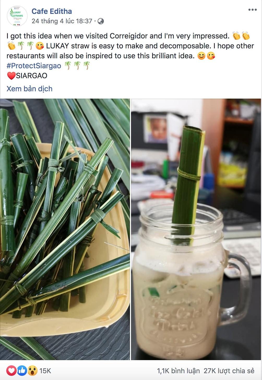 Quán cà phê tại Philippines cho ra đời ống hút lá dừa tiếp nối phong trào giảm rác thải nhựa - Ảnh 3.