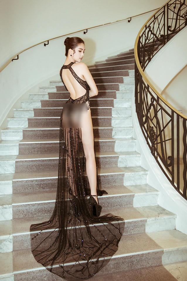 Đọ nhan sắc của Ngọc Trinh trên thảm đỏ Cannes khi chưa và đã qua phù thuỷ photoshop - Ảnh 2.