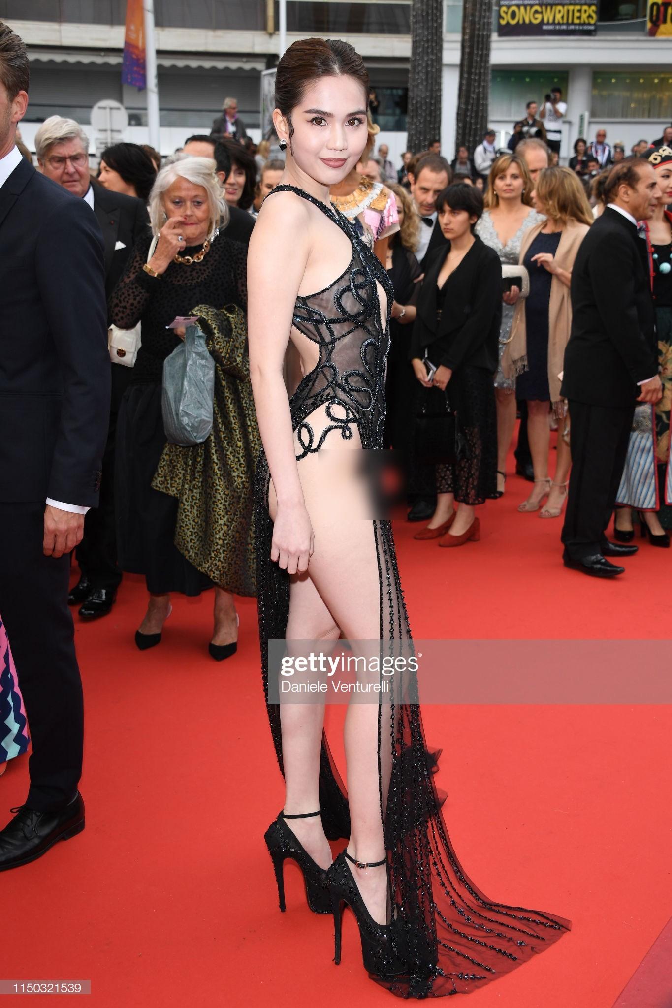 Đọ nhan sắc của Ngọc Trinh trên thảm đỏ Cannes khi chưa và đã qua phù thuỷ photoshop - Ảnh 10.