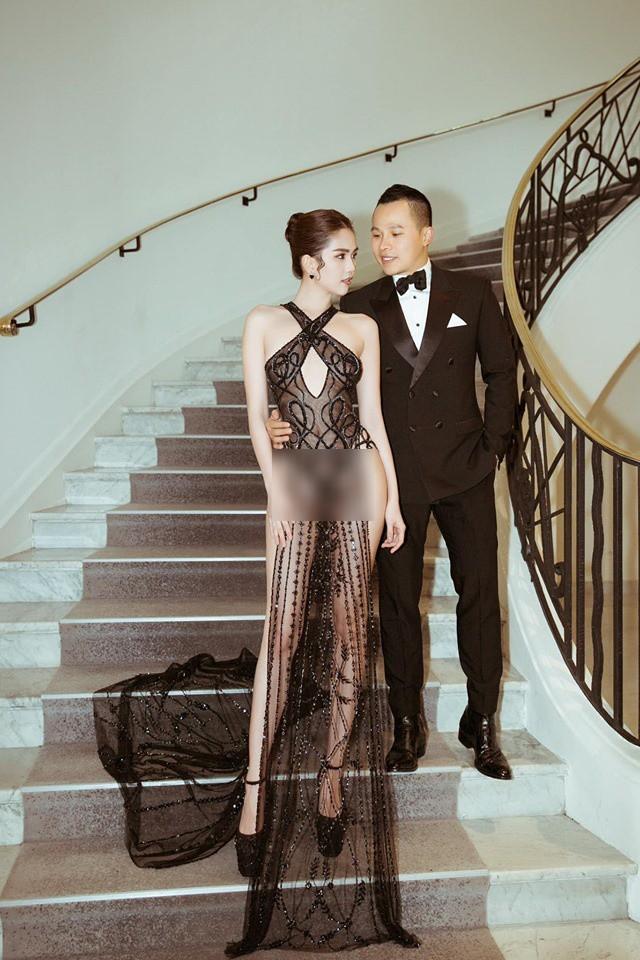 Đọ nhan sắc của Ngọc Trinh trên thảm đỏ Cannes khi chưa và đã qua phù thuỷ photoshop - Ảnh 3.
