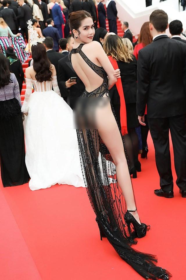Đọ nhan sắc của Ngọc Trinh trên thảm đỏ Cannes khi chưa và đã qua phù thuỷ photoshop - Ảnh 6.
