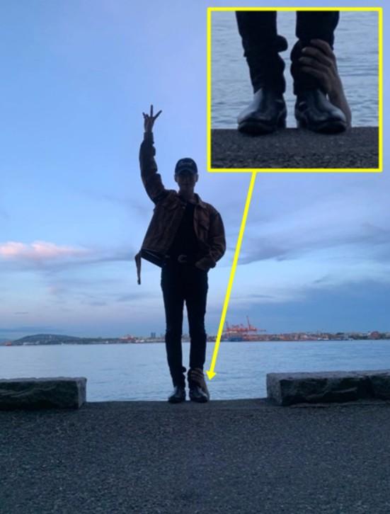 Khoe ảnh du lịch Canada, mỹ nam nhà SM tá hỏa phát hiện bị bàn tay lạ ngoi lên từ biển bám chặt lấy chân - Ảnh 5.