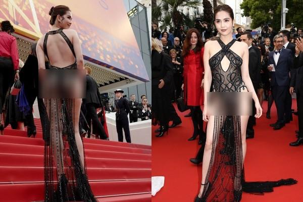 Báo Anh soi cận cảnh màn xuất hiện của Ngọc Trinh trên thảm đỏ Cannes, sốc hơn khi đọc bình luận từ dân mạng quốc tế - Ảnh 3.