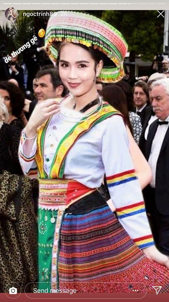 Ngọc Trinh lầy hội tự đăng loạt ảnh dân mạng quây váy, đội nón bảo hiểm che chắn kỹ càng cho mình trên thảm đỏ Cannes - Ảnh 3.
