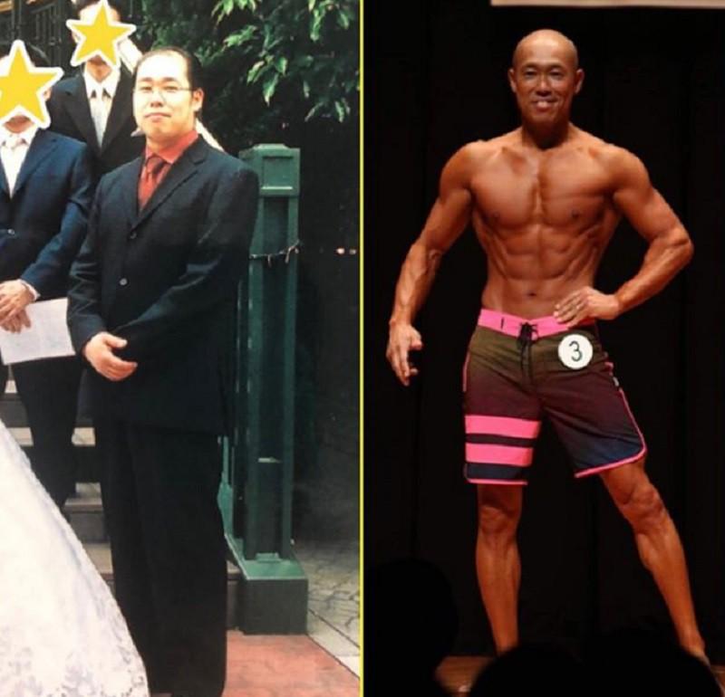 Bị vợ bỏ vì vừa hói vừa xấu, chú trung niên cạo trọc luôn rồi tập gym đến khi cơ thể lột xác ngoạn mục - Ảnh 2.
