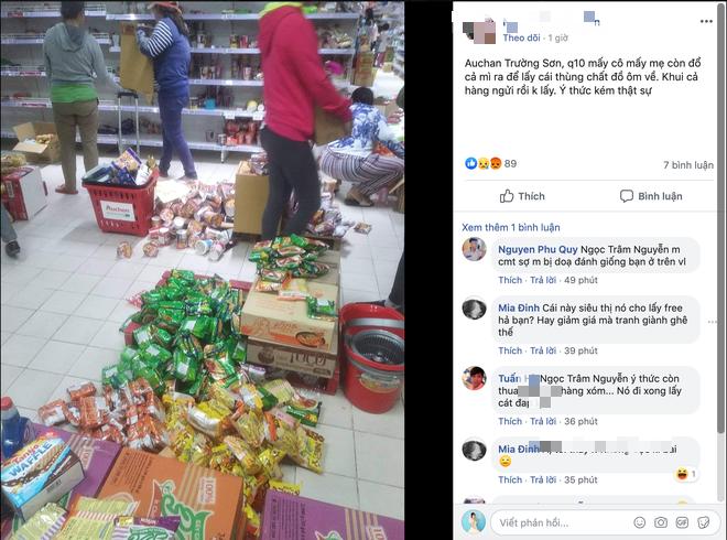 Sốc với cảnh tượng còn sót lại sau khi người dân săn đồ giảm giá 50% nhân dịp chuỗi siêu thị Auchan của Pháp rời khỏi Việt Nam - Ảnh 4.