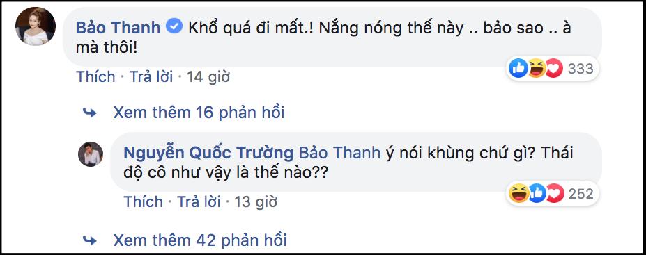 Không chỉ trên phim, cặp đôi oan gia Quốc Trường và Bảo Thanh còn liên tục tương tác với nhau trên mạng khiến fan rần rần thích thú - Ảnh 2.