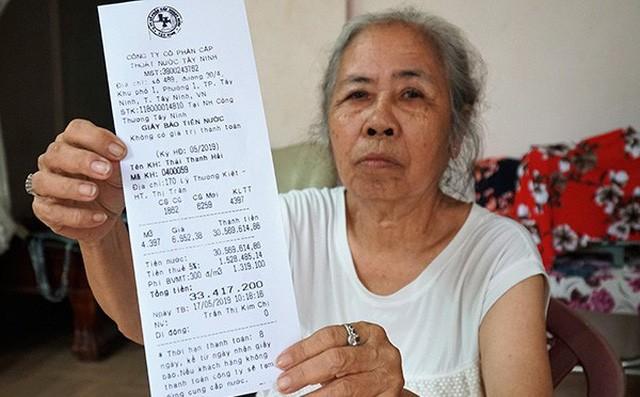Tây Ninh: Tá hỏa với hóa đơn tiền nước hơn 33 triệu đồng - Ảnh 1.