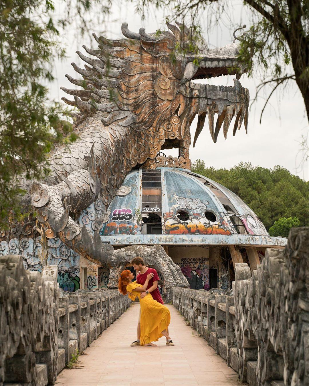 """Công viên nước bị bỏ hoang ở Huế bỗng dưng """"hot"""" trở lại sau 15 năm: Bí ẩn """"ma mị"""" mãi vẫn chưa có lời giải đáp - Ảnh 15."""