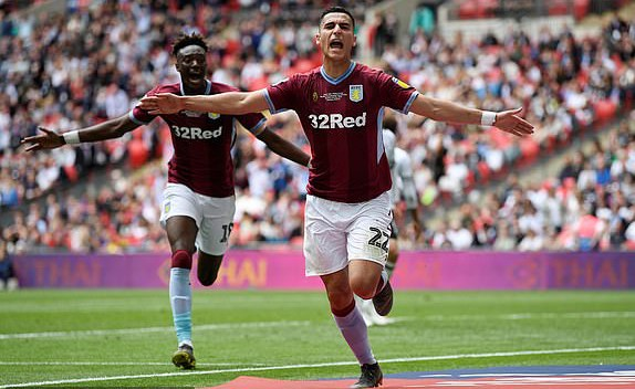 Thắng nghẹt thở ở trận cầu đắt giá nhất hành tinh, Aston Villa giành tấm vé độc đắc cuối cùng thăng hạng Ngoại hạng Anh - Ảnh 3.