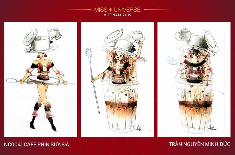 Sau bộ trang phục bánh mì quốc dân của H'Hen Niê, liệu tân hoa hậu Hoàng Thuỳ có cơ hội diện cà phê sữa và mì quảng lên sân khấu? - Ảnh 5.