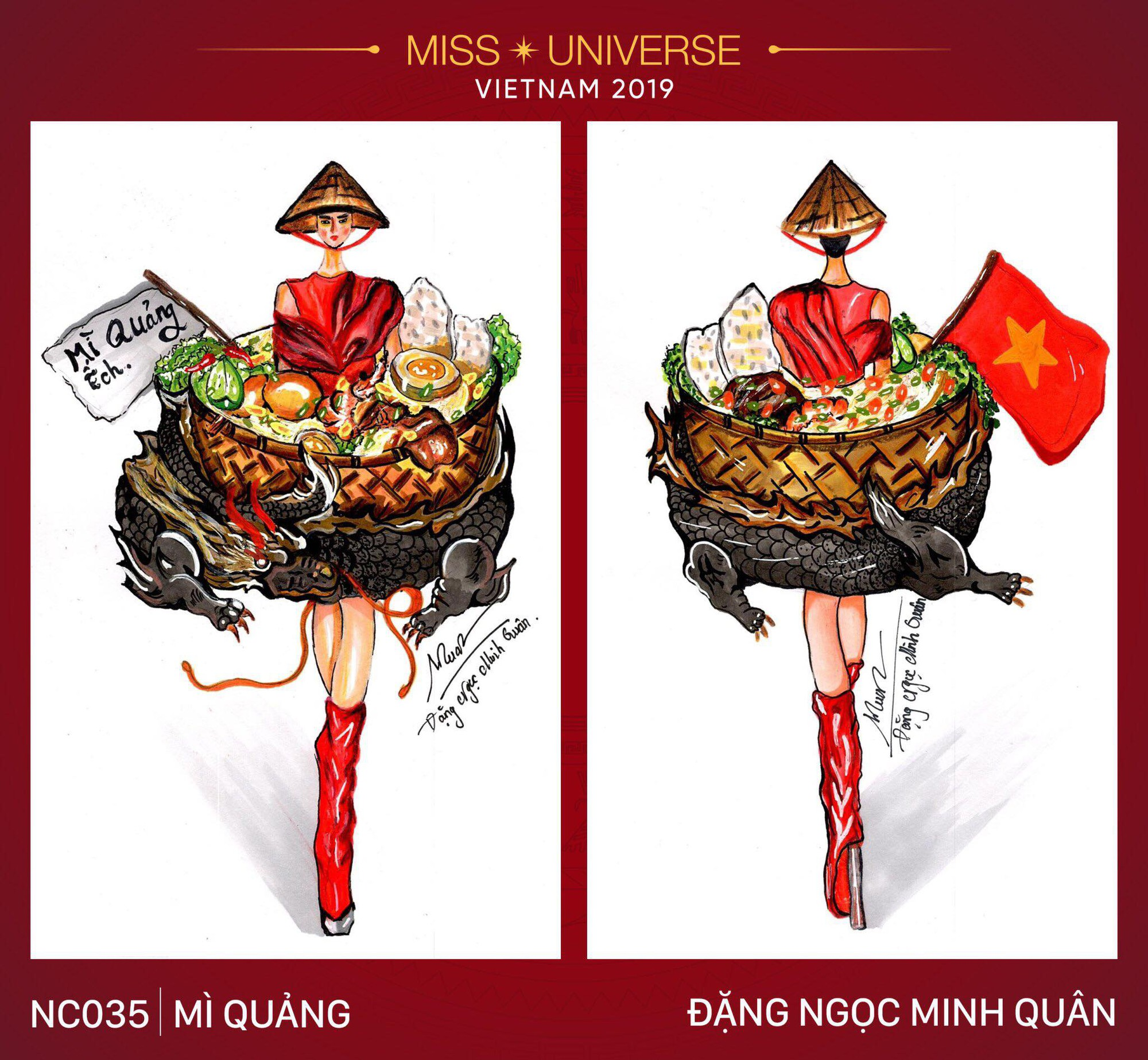 Sau bộ trang phục bánh mì quốc dân của H'Hen Niê, liệu tân hoa hậu Hoàng Thuỳ có cơ hội diện cà phê sữa và mì quảng lên sân khấu? - Ảnh 4.