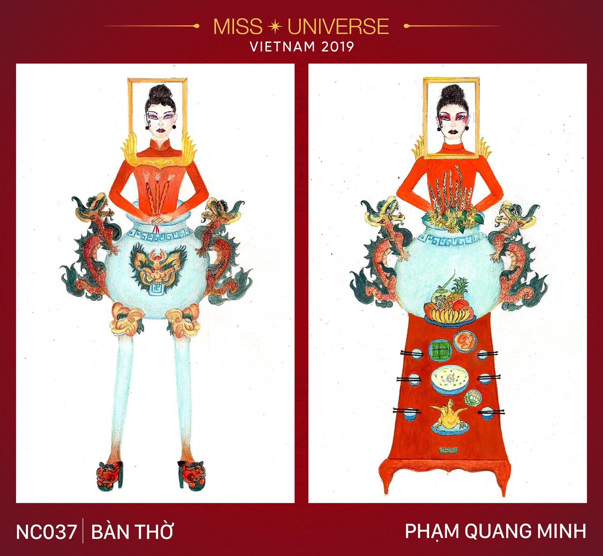 Thiết kế Bàn thờ thi phần trang phục để Hoàng Thuỳ dự Miss Universe 2019 đang khiến dân tình cạn hết lời! - Ảnh 1.