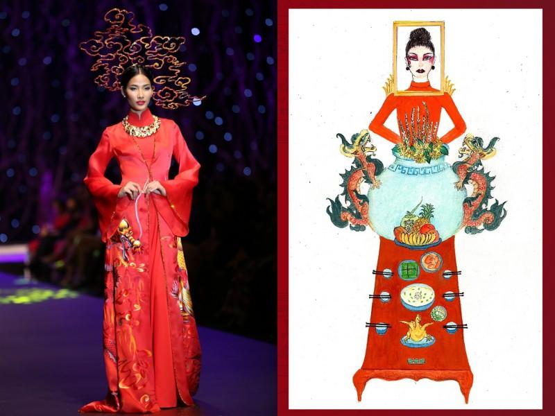 Thiết kế Bàn thờ thi phần trang phục để Hoàng Thuỳ dự Miss Universe 2019 đang khiến dân tình cạn hết lời! - Ảnh 4.