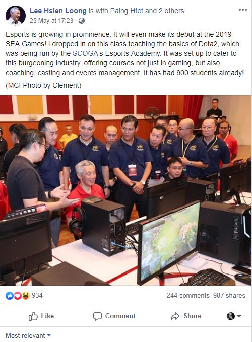 Thủ tướng Singapore Lý Hiển Long đánh Dota 2, công khai ủng hộ nền công nghiệp Esport nước nhà - Ảnh 1.
