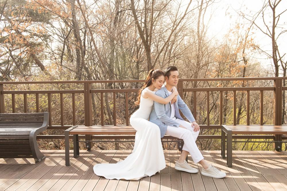 Cận ngày trọng đại, Dương Khắc Linh - Ngọc Duyên tung trọn bộ ảnh cưới lãng mạn tại Hàn Quốc - Ảnh 4.