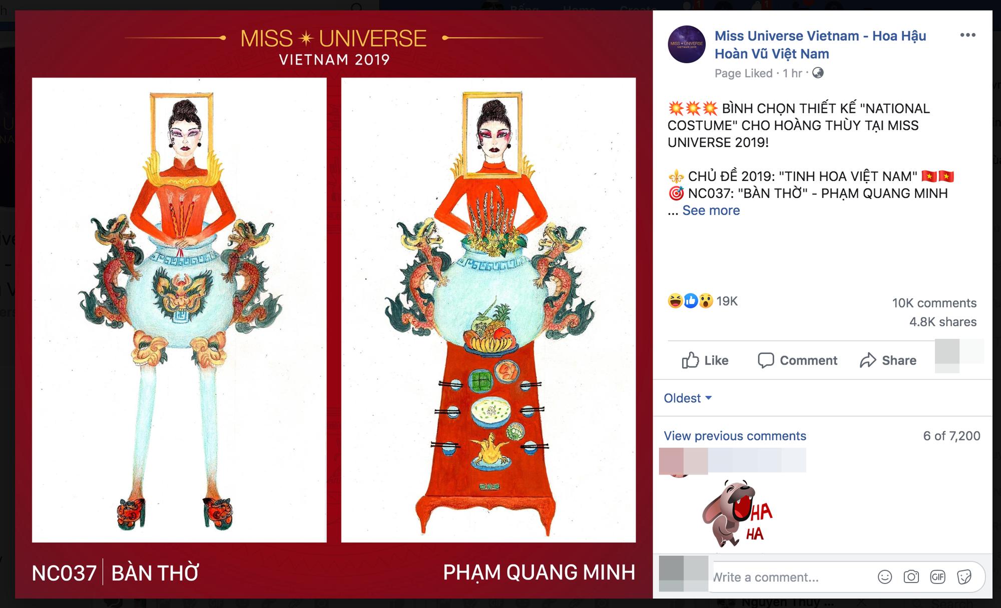 Thiết kế Bàn thờ thi phần trang phục để Hoàng Thuỳ dự Miss Universe 2019 đang khiến dân tình cạn hết lời! - Ảnh 2.