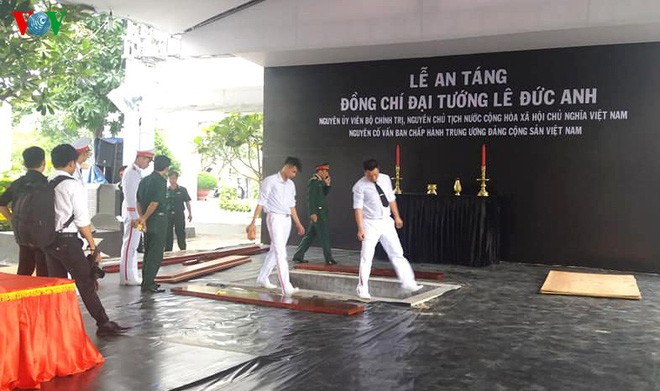 Lễ an táng cố Chủ tịch nước Lê Đức Anh ở TP Hồ Chí Minh