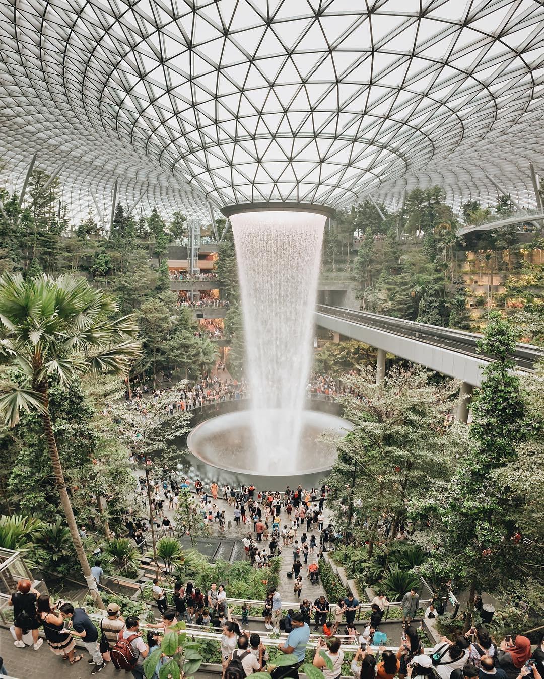 Thác nước khổng lồ chiếm trọn spotlight sân bay Changi - Singapore: cứ 10 người đến đây thì hết 9 người đăng ảnh check-in với background này - Ảnh 6.
