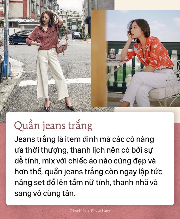 Nếu bạn muốn hướng đến phong cách thanh lịch, sang trọng thì không thể bỏ qua những mẫu quần jeans đình đám này - Ảnh 9.