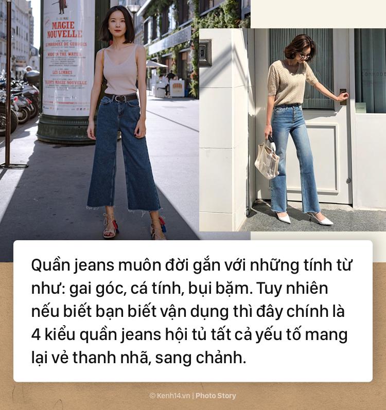 Nếu bạn muốn hướng đến phong cách thanh lịch, sang trọng thì không thể bỏ qua những mẫu quần jeans đình đám này - Ảnh 1.