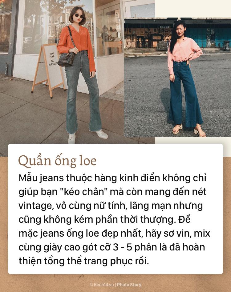 Nếu bạn muốn hướng đến phong cách thanh lịch, sang trọng thì không thể bỏ qua những mẫu quần jeans đình đám này - Ảnh 5.