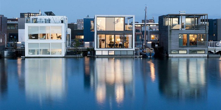 Chiêm ngưỡng cả trăm ngôi nhà được xây nổi trên mặt nước: Một quần thể kiến trúc đáng tự hào của thủ đô Amsterdam - Ảnh 13.