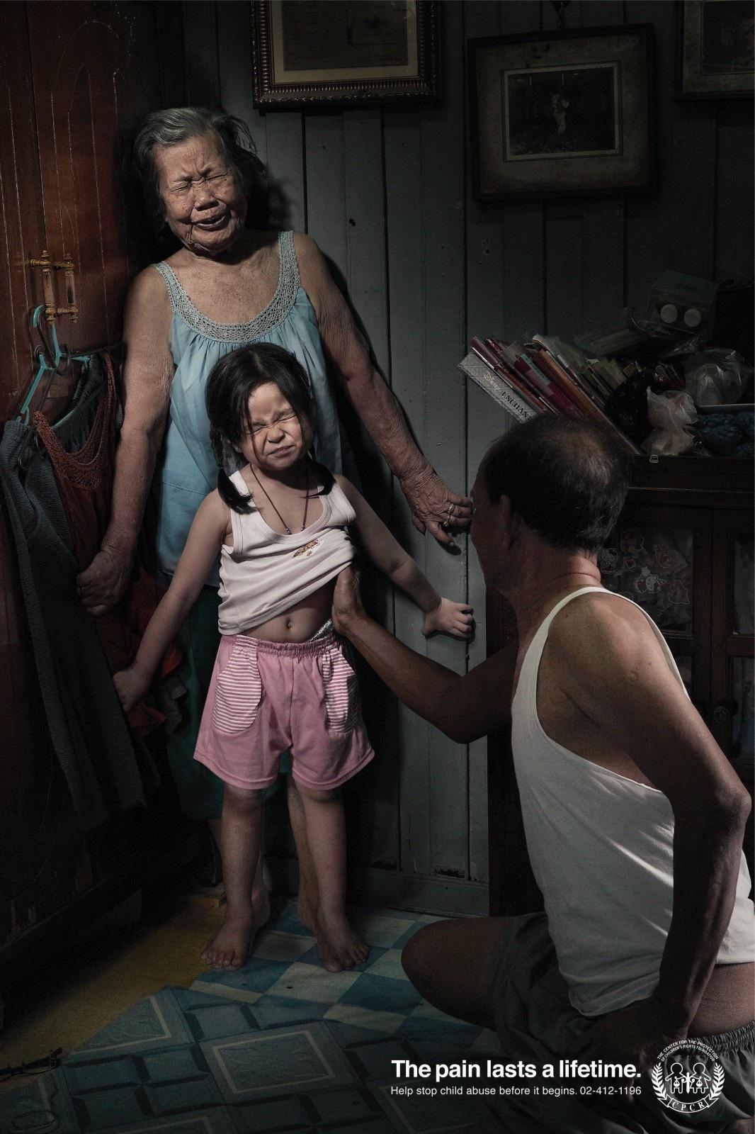 Nỗi đau theo suốt một đời - bộ ảnh phòng chống lạm dụng trẻ em từng gây chấn động MXH Thái Lan - Ảnh 3.