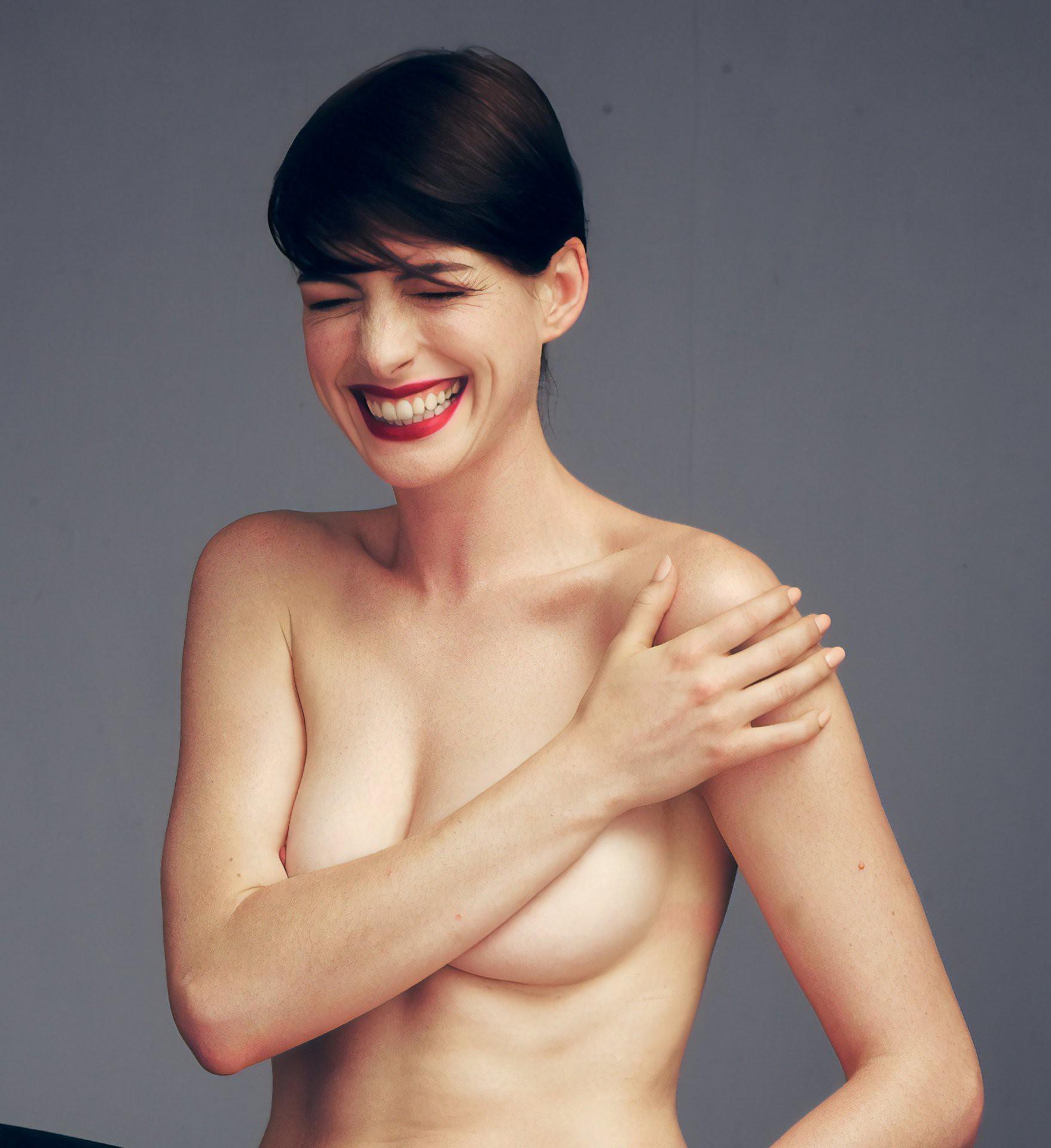 Mê mẩn trước bộ ảnh nóng bỏng mắt, đang gây bão mạng vì gần như khoả thân hoàn toàn của Anne Hathaway - Ảnh 1.
