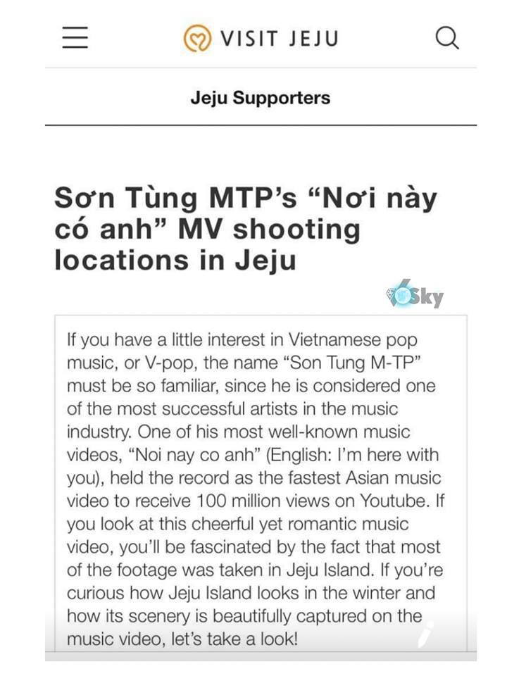"""Khéo léo như trang du lịch Hàn Quốc, tỉ mẩn phân tích MV """"Nơi này có anh"""" của Sơn Tùng M-TP để quảng bá cho đảo Jeju - Ảnh 2."""