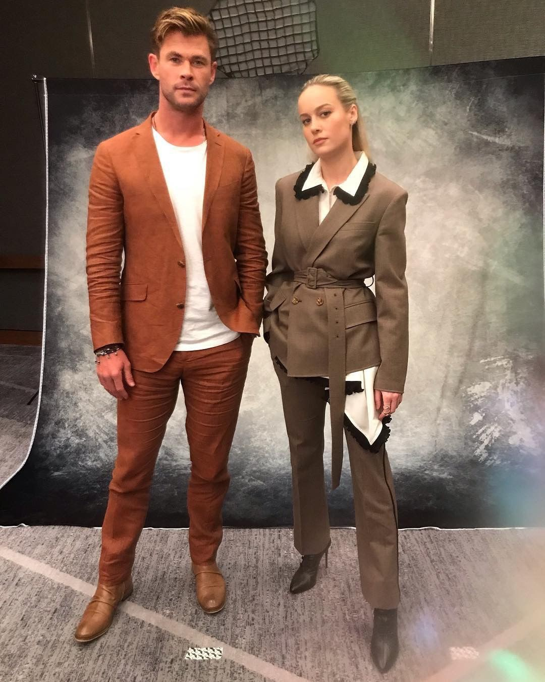 Rộ lên tin đồn Thor Chris Hemsworth xung đột gay gắt cùng Captain Marvel Brie Larson trong quá trình quảng bá phim - Ảnh 1.
