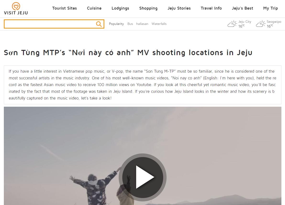 """Khéo léo như trang du lịch Hàn Quốc, tỉ mẩn phân tích MV """"Nơi này có anh"""" của Sơn Tùng M-TP để quảng bá cho đảo Jeju - Ảnh 3."""