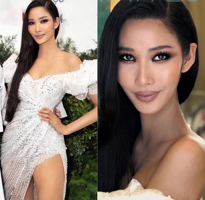 Trước khi thi Miss Universe, Hoàng Thùy nên cất tạm kiểu makeup này ở nhà để ban giám khảo nước bạn khỏi hết hồn - Ảnh 1.