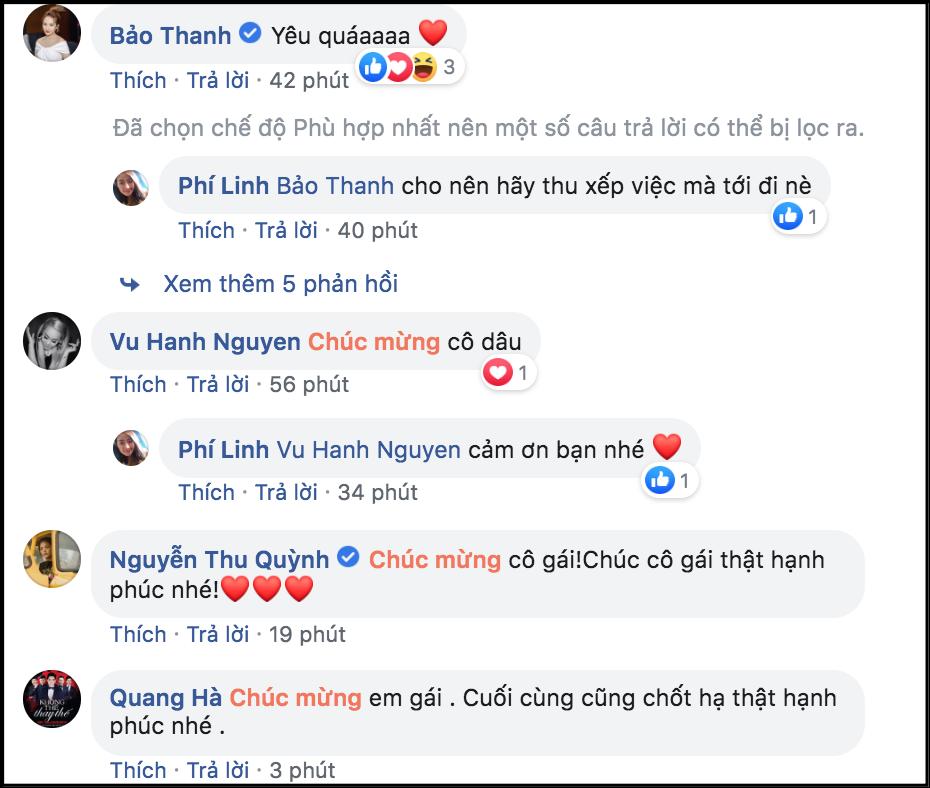 anh chup man hinh 2019 06 11 luc 095650 15602230883131849865989 - MC Phí Linh khoe ảnh cưới sao Việt đồng loạt vào chúc mừng