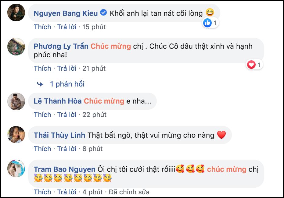 MC Phí Linh diện váy cưới lộng lẫy, được dàn sao Việt gửi lời chúc phúc trước 3 ngày lên xe hoa - Ảnh 4.