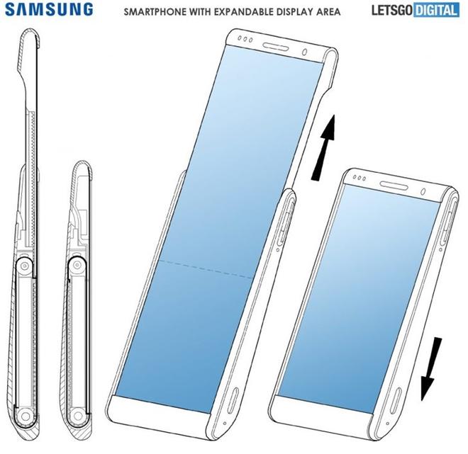 Samsung lộ sáng chế smartphone màn hình cuộn như băng chuyền, mở rộng diện tích thêm 60% - Ảnh 1.