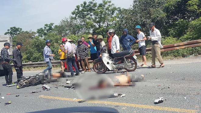 Hà Nam: Va chạm với xe tải ngã xuống đường, 2 người bị ô tô cán tử vong thi thể không còn nguyên vẹn - Ảnh 1.