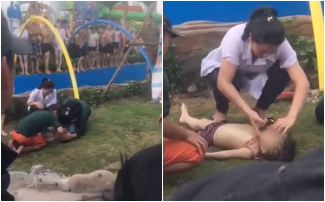 Công viên nước Thanh Hà mới khai trương 3 ngày đã có 1 bé trai đuối nước phải hô hấp nhân tạo - Ảnh 1.