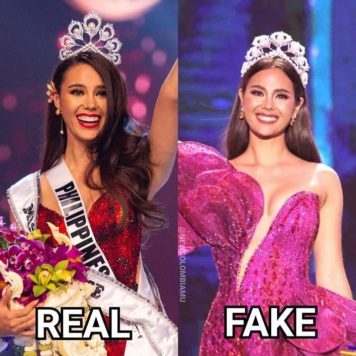 Hoa hậu Catriona Gray đội vương miện fake trong đêm chung kết HH Hoàn vũ Philippines vì lý do dở khóc dở cười - Ảnh 2.