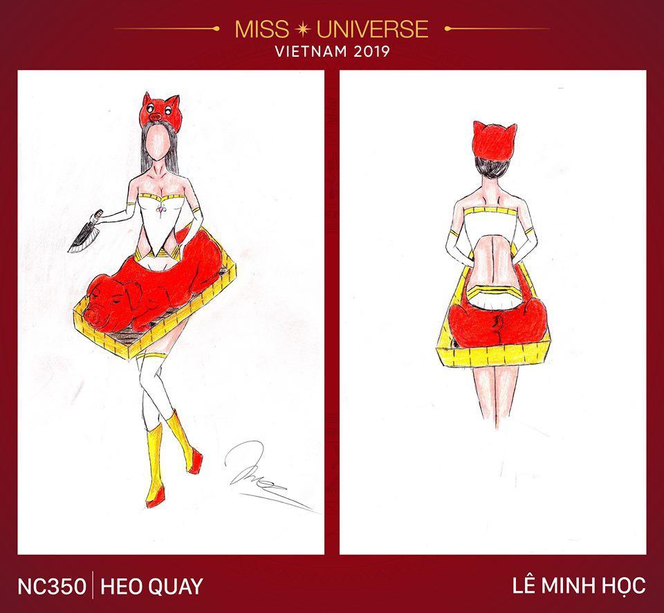 Choáng với loạt ý tưởng trang phục mới dành cho Hoàng Thuỳ dự thi Miss Universe: Từ ninja Lead, heo quay đến cây ATM - Ảnh 1.